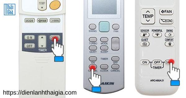 cách chỉnh remote máy lạnh