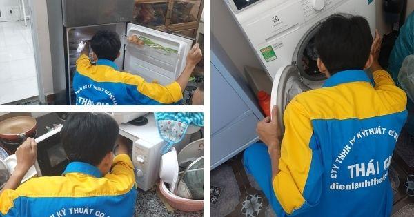 thay dây nguồn máy giặt, tủ lạnh, lò vi sóng