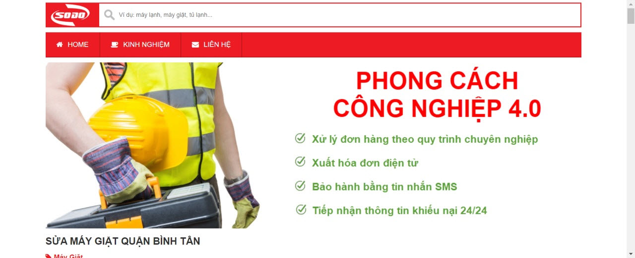 sua may giat binh tan