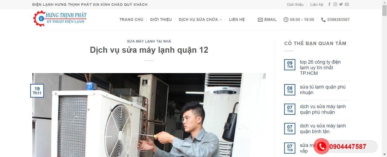 sửa máy lạnh quận 12